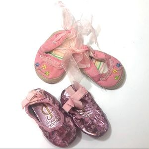 Newborn Baby Girl Shoes Juicy Couture flats pink